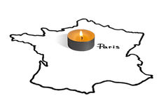 Παρίσι Η επίθεση Στοκ φωτογραφία με δικαίωμα ελεύθερης χρήσης