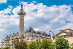Παρίσι, θέση de Λα έθνος στοκ φωτογραφίες