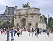 Παρίσι, ιπποδρόμιο de Triomphe du 18.2013-τόξων Αυγούστου στο Παρίσι Στοκ Εικόνες