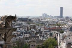 Παρίσι και καθεδρικός ναός της Notre Dame - Παρίσι διάσημο όλων των χιμαιρών, Στοκ φωτογραφίες με δικαίωμα ελεύθερης χρήσης