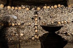 Παρίσι-κατακόμβη-νεκρός-9 Στοκ εικόνα με δικαίωμα ελεύθερης χρήσης