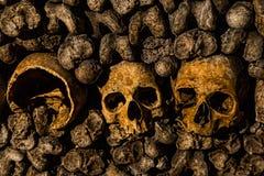 Παρίσι-κατακόμβη-νεκρός-4 Στοκ φωτογραφία με δικαίωμα ελεύθερης χρήσης