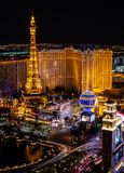 Παρίσι Λας Βέγκας τη νύχτα στοκ φωτογραφία με δικαίωμα ελεύθερης χρήσης