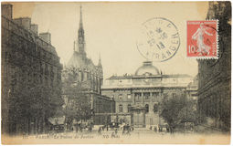 Παρίσι. Παλάτι της δικαιοσύνης Στοκ φωτογραφία με δικαίωμα ελεύθερης χρήσης