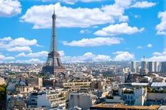 Παρίσι, πανόραμα με τον πύργο του Άιφελ Στοκ φωτογραφίες με δικαίωμα ελεύθερης χρήσης