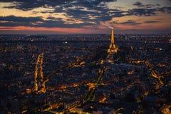 Παρίσι, πύργος του Άιφελ, εικονική παράσταση πόλης Στοκ Εικόνες