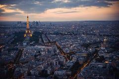 Παρίσι, πύργος του Άιφελ, εικονική παράσταση πόλης Στοκ Εικόνα