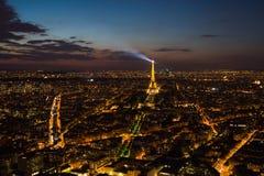 Παρίσι, πύργος του Άιφελ, εικονική παράσταση πόλης Στοκ Φωτογραφία