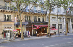 Παρίσι, στις 15 Αυγούστου - πεζούλι στο Παρίσι Στοκ Εικόνες