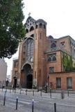 Παρίσι, στις 17 Ιουλίου: Εκκλησία του En 1904 Αγίου Jean de Montmartre construit στο ύφος Nouveau τέχνης από το Παρίσι Στοκ Φωτογραφία