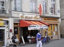 Παρίσι, στις 17 Ιουλίου: Πεζούλι από Montmartre στο Παρίσι Στοκ φωτογραφία με δικαίωμα ελεύθερης χρήσης