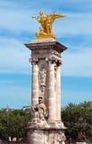 Παρίσι - στυλοβάτης του Alexandre ΙΙΙ γέφυρα Στοκ φωτογραφία με δικαίωμα ελεύθερης χρήσης