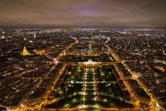Παρίσι τη νύχτα από τον πύργο του Άιφελ Στοκ Εικόνες