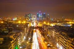 Παρίσι τη νύχτα Στοκ Φωτογραφία