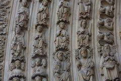 Παρίσι - δυτική πρόσοψη του καθεδρικού ναού της Notre Dame Στοκ εικόνα με δικαίωμα ελεύθερης χρήσης