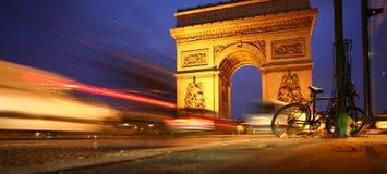 Παρίσι arc de triomphe Στοκ Φωτογραφία