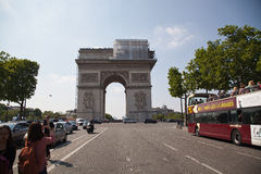 Παρίσι, Arc de Triomphe Στοκ Εικόνες