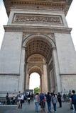 Παρίσι, Arc de Triomphe Στοκ Εικόνα