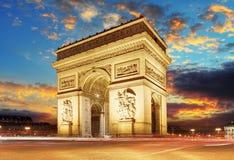 Παρίσι, Arc de Triumph, Γαλλία Στοκ φωτογραφίες με δικαίωμα ελεύθερης χρήσης