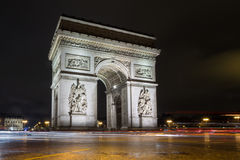 Παρίσι, Arc de Triumph τη νύχτα Στοκ εικόνες με δικαίωμα ελεύθερης χρήσης