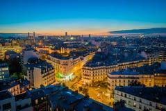 Παρίσι 12 arrondissement τη νύχτα Στοκ φωτογραφίες με δικαίωμα ελεύθερης χρήσης