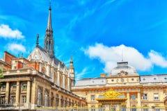 Παρίσι Courthouse Palais de Justice de Παρίσι στο Παρίσι Στοκ εικόνες με δικαίωμα ελεύθερης χρήσης