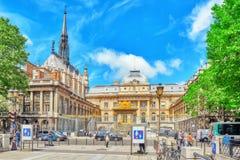 Παρίσι Courthouse Palais de Justice de Παρίσι Στοκ Εικόνες