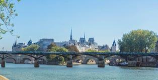 Παρίσι - Pont des Arts Στοκ Εικόνες