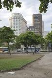 Παρίσι Squair στο Ρίο ντε Τζανέιρο, άποψη στο κέντρο της πόλης Στοκ εικόνες με δικαίωμα ελεύθερης χρήσης