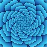 Παραίσθησης τέχνης αφηρημένο λουλουδιών mandala διακοσμητικό σχεδίων τετράγωνο υποβάθρου ουρανού μπλε Στοκ φωτογραφία με δικαίωμα ελεύθερης χρήσης