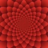 Παραίσθησης τέχνης αφηρημένο λουλουδιών mandala διακοσμητικό τετράγωνο υποβάθρου σχεδίων κόκκινο Στοκ Φωτογραφίες