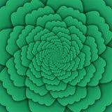 Παραίσθησης τέχνης αφηρημένο λουλουδιών mandala διακοσμητικό τετράγωνο υποβάθρου σχεδίων πράσινο Στοκ Φωτογραφία