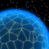 Παραγμένος περίληψη πλανήτης με κίτρινο καθαρό ελεύθερη απεικόνιση δικαιώματος