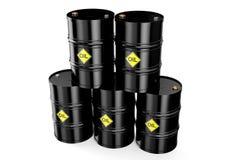 παραγμένου υπολογιστής βαρέλια πετρελαίου εικόνας Στοκ φωτογραφίες με δικαίωμα ελεύθερης χρήσης