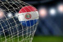 Παραγουανό soccerball σε καθαρό Στοκ φωτογραφία με δικαίωμα ελεύθερης χρήσης