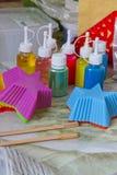Παραγωγή σαπουνιών, η διαδικασία το σαπούνι Στοκ εικόνες με δικαίωμα ελεύθερης χρήσης