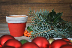 Παραγωγή της ρύθμισης Χριστουγέννων Στοκ Εικόνες