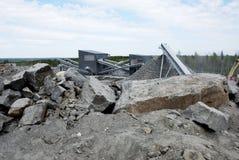 Παραγωγή της συντριμμένης πέτρας Στοκ εικόνα με δικαίωμα ελεύθερης χρήσης