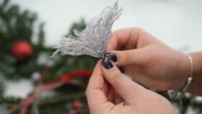 Παραγωγή του ντεκόρ Χριστουγέννων απόθεμα βίντεο