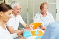 Παραγωγή του origami στοκ εικόνες