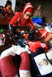 Παραγωγή των αυτοκινήτων και των γεμισμένων μαξιλαριών Στοκ Εικόνα