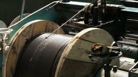 Παραγωγή των σχοινιών Δέσμη των σχοινιών απόθεμα βίντεο