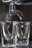παραγωγή espresso Στοκ φωτογραφία με δικαίωμα ελεύθερης χρήσης
