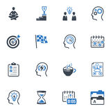 Παραγωγικός στα εικονίδια εργασίας - μπλε σειρά Στοκ Φωτογραφίες