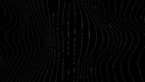 Παραγωγικό Visuals για VJ Κάθετα κύματα στη διαφανή σύσταση απόθεμα βίντεο