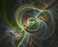 Παραγόμενη από υπολογιστή fractal εικόνα με τη διαστημική αφαίρεση στοκ φωτογραφία