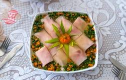 Παραδοσιακά ανατολικο-ευρωπαϊκά γεύματα επ' ευκαιρία Πάσχας στοκ εικόνες με δικαίωμα ελεύθερης χρήσης