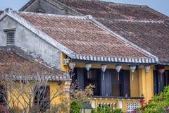 Παραδοσιακά ελαφριά φανάρια σε Hoi ένα τοπίο πόλεων στο ηλιοβασίλεμα, προορισμός ταξιδιού του Βιετνάμ στοκ φωτογραφίες με δικαίωμα ελεύθερης χρήσης