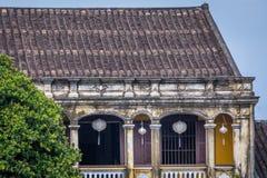 Παραδοσιακά ελαφριά φανάρια σε Hoi ένα τοπίο πόλεων στο ηλιοβασίλεμα, προορισμός ταξιδιού του Βιετνάμ στοκ φωτογραφία με δικαίωμα ελεύθερης χρήσης