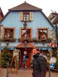 Παραδοσιακά ζωηρόχρωμα σπίτια στο Λα λεπτοκαμωμένη Γαλλία, Στρασβούργο, Αλσατία, Γαλλία Στοκ εικόνες με δικαίωμα ελεύθερης χρήσης